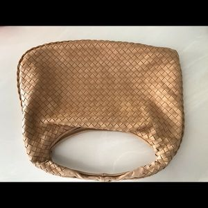 Bottega Veneta leather woven hobo medium